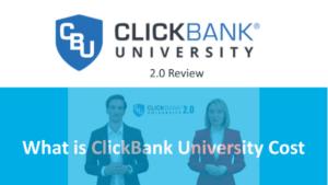 ClickBank University Cost