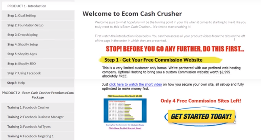 What is Ecom Cash Crusher