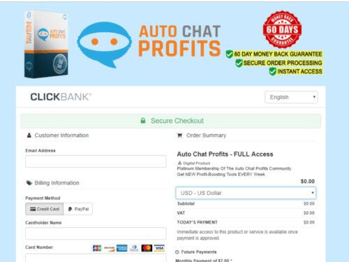 auto chat profits scam