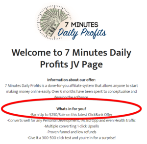 7 minutes daily profits