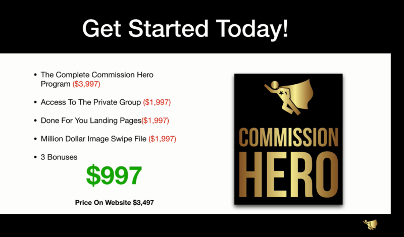 Specification Video Commission Hero  Affiliate Marketing