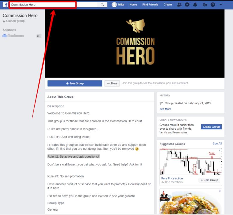 FB Commission Hero