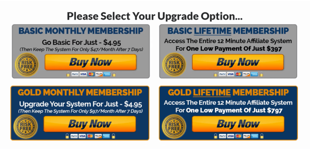 12 Minute Affiliate System Warranty Return To Base