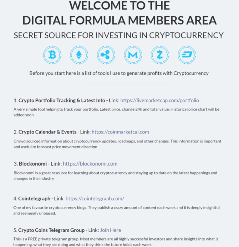 what is digital formula about