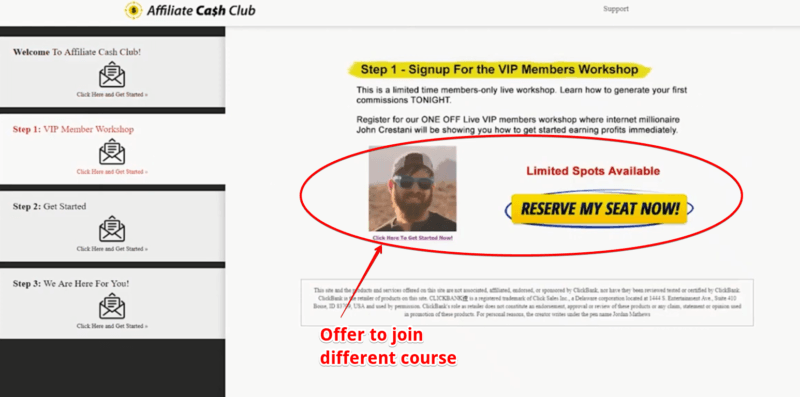 is affiliate cash club scam
